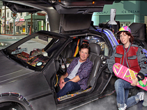 Michael J Fox used the BTTF Car DeLorean Time Machine for his 1st ever comic con